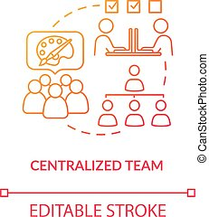 Centralized team, agency staff collaboration type concept ...