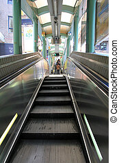 Central%u2013Mid-Levels escalator in Hong Kong. It is the...