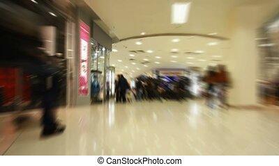 centre, achats, couloir, gens