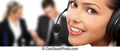 centre, appeler, opérateur