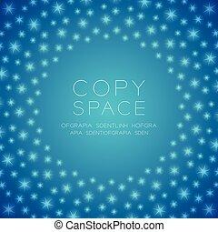 centre bleu, espace, gradient, lumière, isolé, étincelant, couleur, forme, fond, modèle, cercle, copie