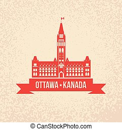 Centre Block and the Peace Tower - The symbol of Ottawa, Canada