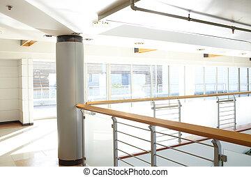 centre, business, couloir