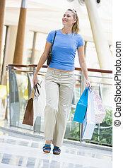 centre commercial, achats femme, jeune