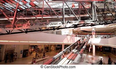 centre commercial, escalator