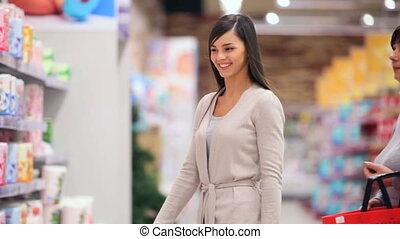 centre commercial, fille, mère