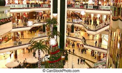 centre commercial, noël