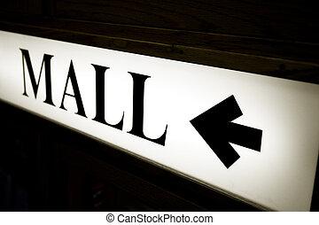 centre commercial, signe