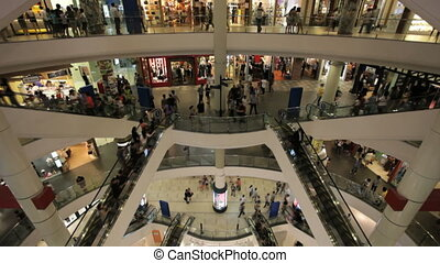 centre commercial, timelapse, achats