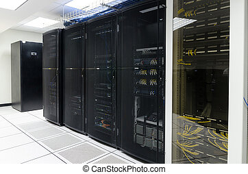 centre, données, salle, serveur