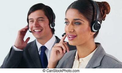 centre, fonctionnement, sourire, appeler, agents, ensemble
