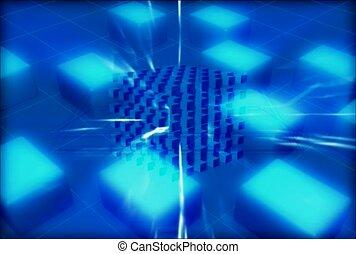 centre, géométrique, éclater
