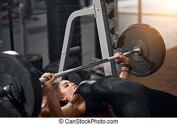 centre, mignon, fitness, sportive