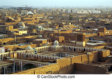 Old Yazd - Centre of Old Yazd, view from the top of Amir...