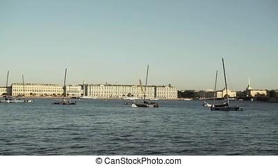 Centre of Saint-Petersburg, Russia: River Neva, State Hermitage