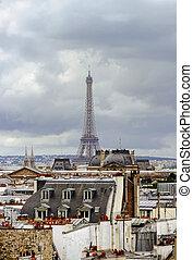 centre, orageux, paris, présentation, pompidou, temps, toit