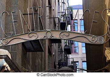 Centre Place Street Sign - Melbourne