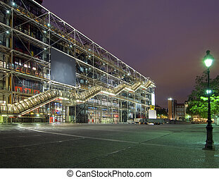 Centre Pompidou at night - The famous Centre Pompidou at...