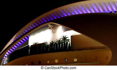 centre, science, toit, couleurs, lumières, futuriste,...
