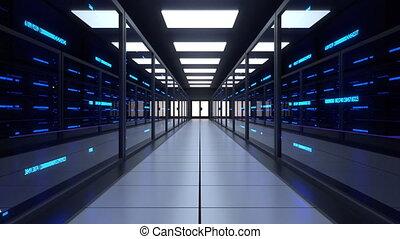 centre, serveur, serveurs, réseau, données, salle
