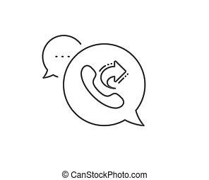 centre, signe., appeler, icon., part, téléphone, gamme services, vecteur