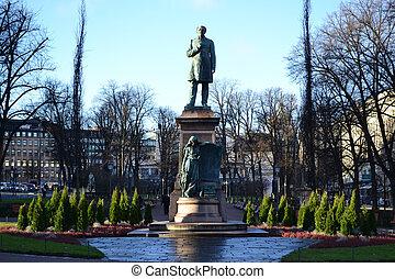 centre, statue, helsinki
