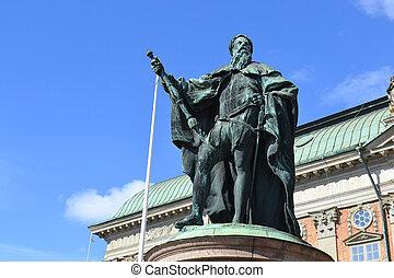 centre, statue, stockholm