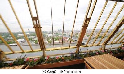 centre ville, business, restaurant, moscou, luzniki, terrasse, vue