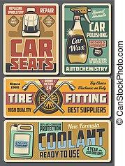 centrera, service, bil, tillbehör, kemikalier, bil
