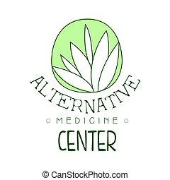 centrera, symbol, illustration, vektor, medicin, logo, alternativ