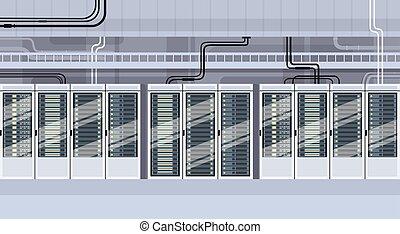 centro, base de datos, técnico, hosting, servidor, datos, habitación