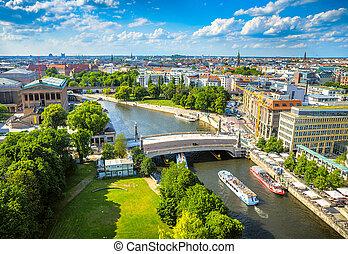 centro, berlín, histórico, surroundings., potsdam, europe., su