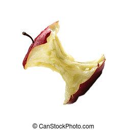centro, bianco, mela, fondo