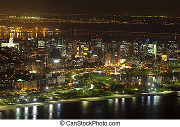 Centro CBD Rio De Janeiro Brazil - Night views of Rio De...