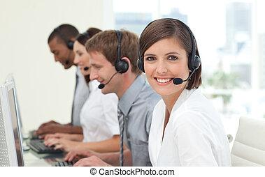 centro, chamada, agentes, serviço freguês