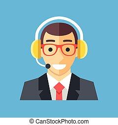 centro chiamata, worker., assistenza clienti, operatore,...
