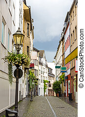 centro cidade, -, koblenz, rua, alemanha