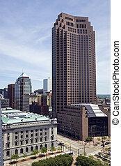 centro cidade, ohio, cleveland, -, arquitetura