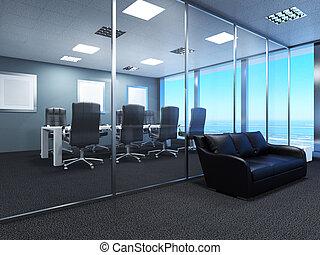 centro commerciale, spazio ufficio, interpretazione, 3d