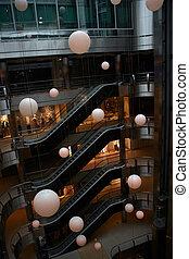 centro, compras, kiev, escalera mecánica