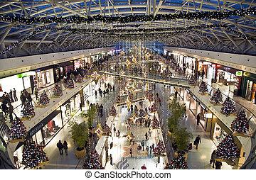 centro, compras, tiempo de navidad