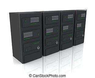 centro, concetto, rete, Sistema servizio,  internet, dati