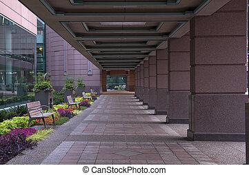 centro convenzione, portico