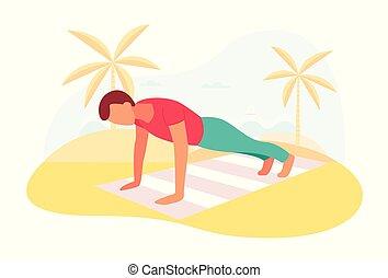 centro, coppia, insieme, asse, fuori, allenamento, esercizio