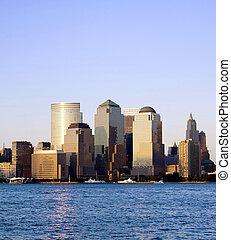 centro de la ciudad, comercio, york, nuevo mundo