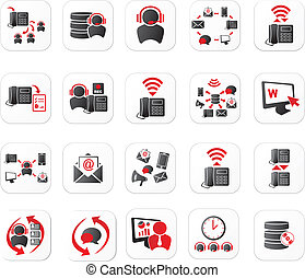 centro de la llamada, iconos