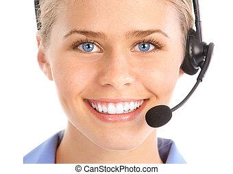 centro de la llamada, operator.
