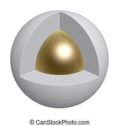 centro, di, sfera