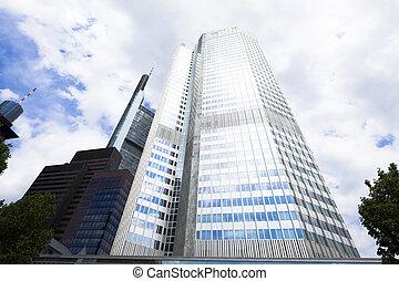 centro, empresa / negocio, rascacielos, vidrio