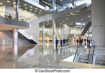 centro, empresa / negocio, vestíbulo